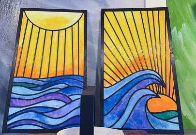Sunrise Sunset wall hangings